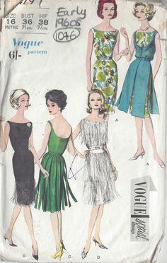 1960s Vintage VOGUE Sewing Pattern B36 DRESS (1076)   eBay