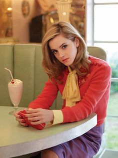Emma is so elegant and British in her style.