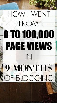 If you are struggling to get traffic to your blog, you need to read this. I started my blog 9 month ago and now I am over 100,000 page views and I share all the things that helped me to reach this point in this post. I could do it and you can too!!