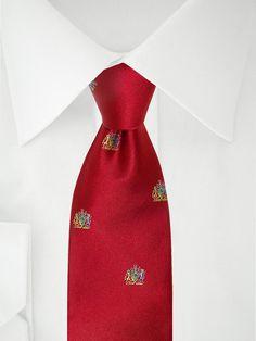 Cravate rouge vif avec motifs Royal Club