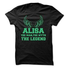 ALISA - The Man The Myth The Legend - #embellished sweatshirt #chunky sweater. CLICK HERE => https://www.sunfrog.com/Names/ALISA--The-Man-The-Myth-The-Legend-48874192-Guys.html?68278