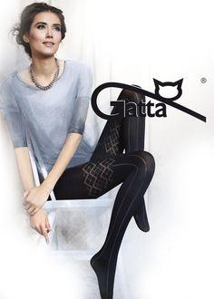 Gatta Loretta 97 - 50den - blickdichte kariert-gestreift Strumpfhose