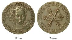 Olympic Medals 1956 Cortina d'Ampezzo