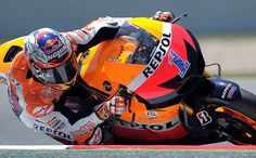 Casey Stoner at the Catalunya Moto GP Grand Prix