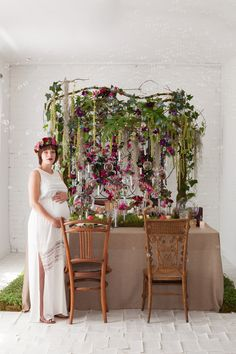 Add an enchanted feel to your baby shower with whimsical garden decorations.
