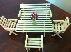 ice cream stick craft - Chairs