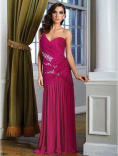 #Prom #Dress Prom Dress #2014 2014 New Style A-line One Shoulder Chiffon Fuchsia Plus Size Prom Dresses/Evening Dress With Beading #FC656 - 2014 Prom Season - Prom Dresse...