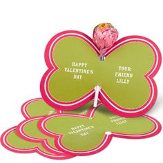 Candy Valentine Card -- Bold Butterfly