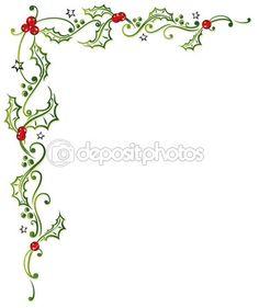 Christmas, holly, leaves — Stock Vector © christine_krahl #