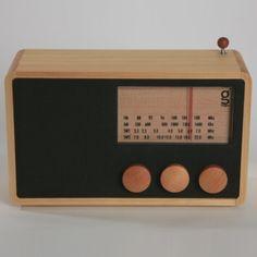 mango wooden radio by e-side. http://www.pinterest.com/bryansusilo7/