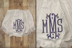 Maleiha ~ Hobby Lobby Bloomers 0-6 mos ~ Machine embroidery font Apex 547 Vienna