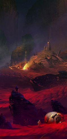 Red Planet – sci-fi concept by Vitali Timkin
