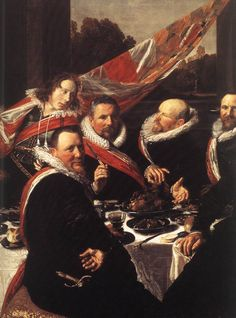 Frans Hals - Banquet of the Officers of the St George Civic Guard (detail)