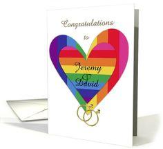 Customizable gay wedding congratulations card (900355) by Eugenia Bacon