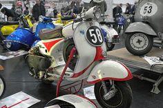 Heavily Modified Vespa GS150 racer  via SIP Scooter Shop