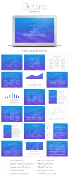 Electric PowerPoint Template (PowerPoint Templates)