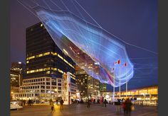 Janet Echelman Skies Painted with Unnumbered Sparks, Vancouver, Canada, 2014 » Janet Echelman
