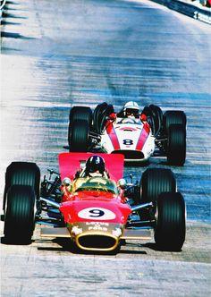 Graham Hill & John Surtees l Monaco 1968