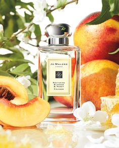 Heather's Couture Corner: JoMalone Fragrances: NECTARINE BLOSSOM & HONEY (Fruity) English Pear & Freesia White Jasmine & Mint Pomegranate Noir (delicious together! ) Orange Blossom Wild Fig & Cassis Sweet Lime & Cedar Nutmeg & Ginger Blackberry and Bay