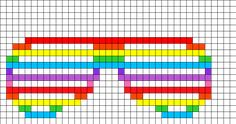 Shutter Shades Perler Bead Pattern | Bead Sprites | Misc Fuse Bead Patterns