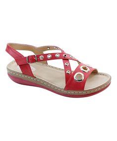 Red & Gold Circle Sandal