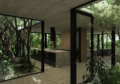 A glass house by Luciano Kruk