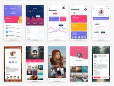 Prisma UI Kit is a huge mobile screens and components with trendy design that you can use for inspiration for your app with super quality design. The kit Mobile App Design, Mobile Ui, Ui Design, Design Elements, Ui Inspiration, Ui Kit, App Ui, Website Template, Iphone Login