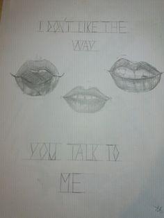 Lips. I know i know. The shadows r disasters and the shape of lips isnt the best :/ And sorry fir bad english ;P Am not from England.  Usta. Wiem wiem. Cienie są okropne i kształt ust nie jest najlepszy ;,/