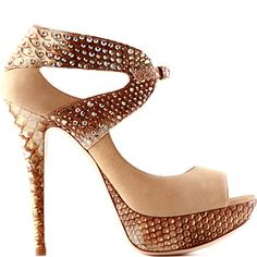 suede-and-python platform sandal #christian louboutin shoes