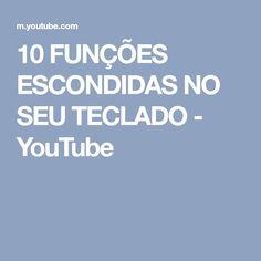 10 FUNÇÕES ESCONDIDAS NO SEU TECLADO - YouTube