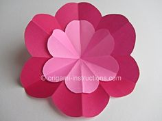 Easy Origami Peach Blossom - Traditional Craft Night