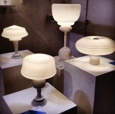 lamps made from discarded ceramic parts.  Could hack this.
