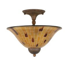 Filament Design Concord 2-Light Bronze Ceiling Semi-Flush Mount Light