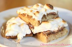 Marshmallow S'mores Bars