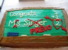 Wedding shower cake for teacher. Adorable!