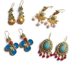 Turkish Earrings   Ethnic Earrings with by petracollection on Etsy