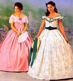 Uncut McCall's 3597 Beautiful Southern Belle Dress Costume Pattern  Misses 12-18