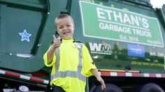 Ethan Dean, 6, is obsessed with garbage trucks, so it makes sense that his Make-A-Wish dream was to become a garbageman.