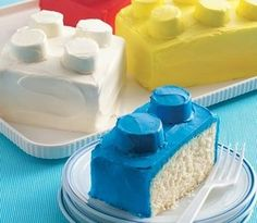 How to make Lego Cakes - I think this would be a big hit with my boys.