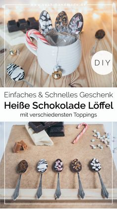 DIY Heiße Schokolade am Stiel selber machen Diy Gifts For Christmas, Valentines Day Gifts For Him, Unique Gifts, Best Gifts, Last Minute Gifts, Different Recipes, Homemade Gifts, Hot Chocolate, Marshmallows
