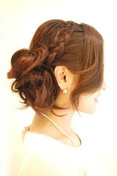 Hairstyles 2014 - classic braid updo | ヘアスタイル 2014 - クラシック編み込みアレンジ②(ヘアスタイリスト 前田 真吾)