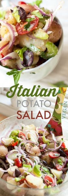Produce On Parade - Italian Potato Salad - Seriously the best potato salad. Mayo-free!