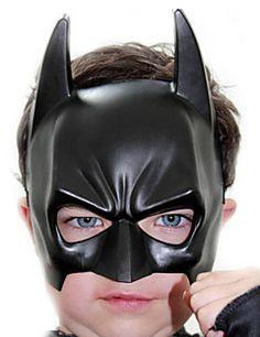 preto batman batman pvc halloween máscara do partido de olho