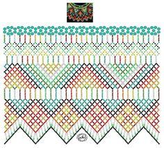 Diy Necklace Patterns, Bead Loom Patterns, Beaded Jewelry Patterns, Beading Patterns, Beading Tutorials, Fabric Origami, Beaded Crafts, Bead Jewellery, Loom Beading