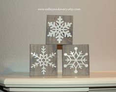 Your place to buy and sell all things handmade Diy Holiday Blocks, Christmas Wood Block Crafts, Christmas Blocks, Christmas Crafts To Sell, Christmas Signs, Christmas Decorations To Make, Holiday Crafts, Christmas Diy, Whoville Christmas