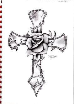 Tattoo - Tattoos of Hannah Rose Tattoos, Flower Tattoos, Body Art Tattoos, Small Tattoos, Sleeve Tattoos, Celtic Cross Tattoos, Cross Tattoos For Women, Tattoos For Guys, Cross Tattoo Designs