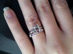 amethyst and diamond eternity ring
