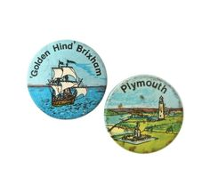 Vintage British Holiday Souvenir Badges
