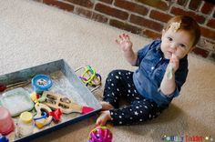 Baby Music Bin: a simple activity for baby to play