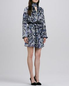 Maldives Blouson Dress by Rachel Zoe at Neiman Marcus.